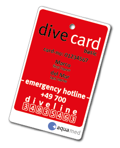 Aquamed Dive Card Basic